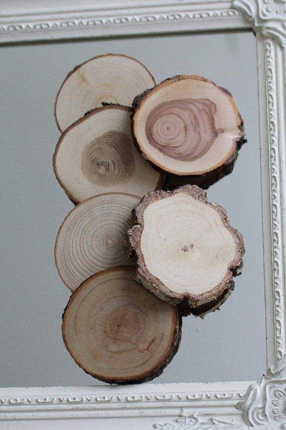 Set Of 20 Small Wooden Slices Little Wood Rounds Wooden Ornamets