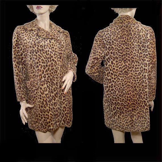 Snuggly   Vintage 1960s leopard print faux fur by HerHeinous, $115.00