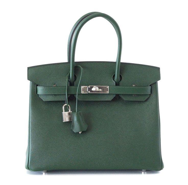 HERMES BIRKIN 30 Bag Vert Anglais new colour English Green palladium #HERMES #TotesShoppers mightychic.com  SOLD
