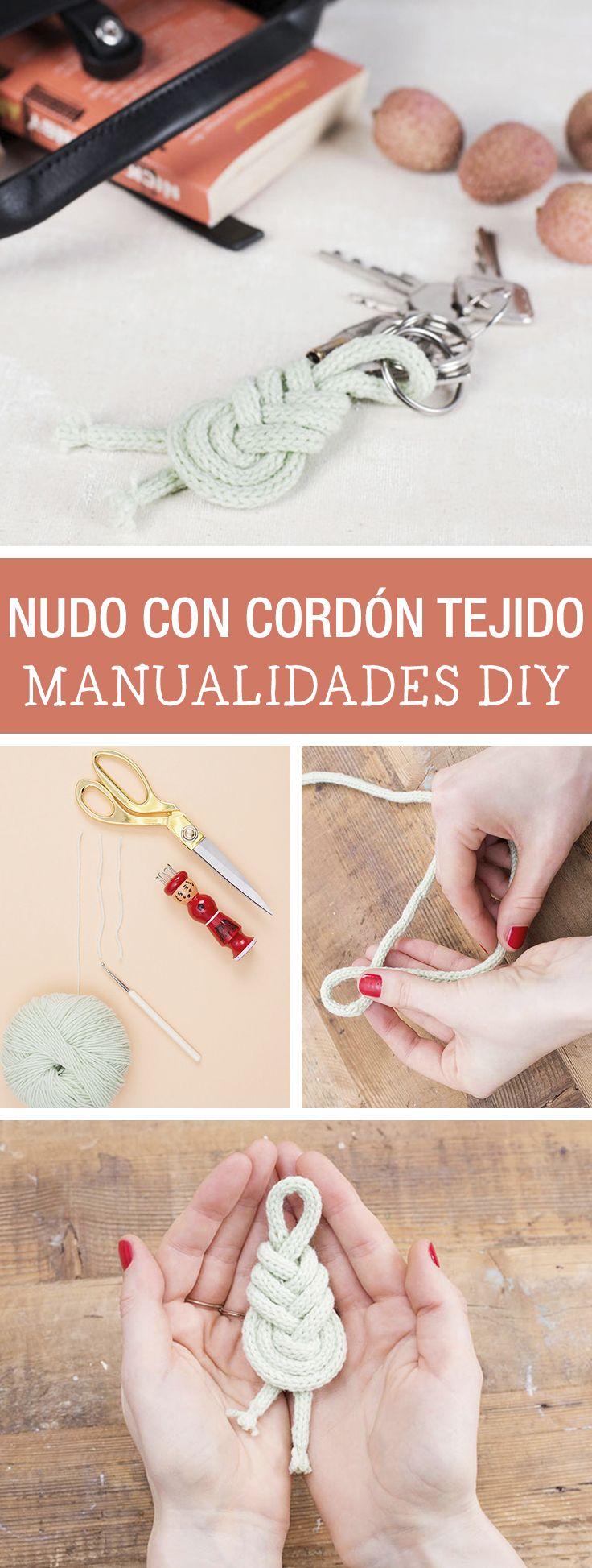 Tutorial DIY - CÓMO HACER UN LLAVERO DE NUDO CON CORDÓN TEJIDO - Manualidades en DaWanda.es