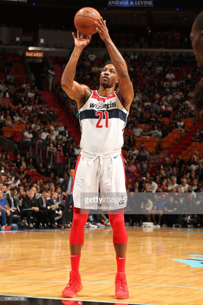 Dwight Howard of the Washington Wizards shoots the ball against the ... 96404cb60