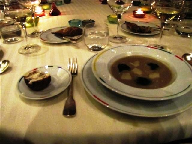 Black truffle and artichoke soup, Guy Savoy, Paris
