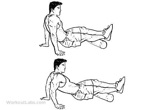 Foam Roller Calf / Calves Stretch