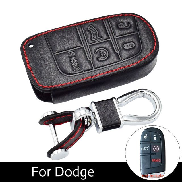 5 Buttons Leather Key Cases Fob Cover For Fiat Dodge Charger Dart Challenger Durango Jeep Grand Cherokee Chrysler 3 Dodge Charger Leather Key Case Chrysler 300