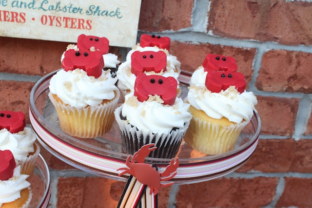 Candy Crab Cupcake Toppers – chocolate and an ice cube tray