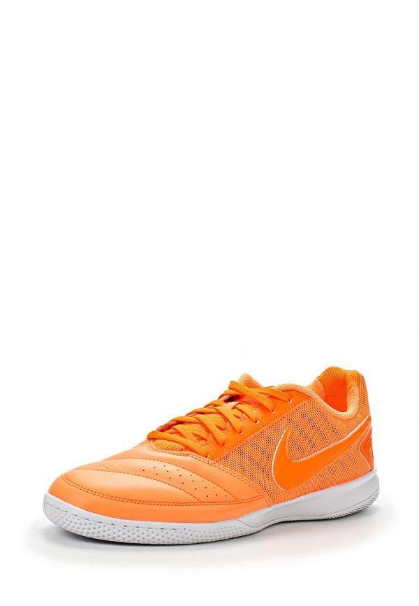 Бутсы зальные Nike / Найк мужские. Цвет: оранжевый. Материал: искусственная кожа, натуральная кожа. Сезон: Весна-лето 2014. С бесплатной доставкой и примеркой на Lamoda. http://j.mp/1nBZ2ai