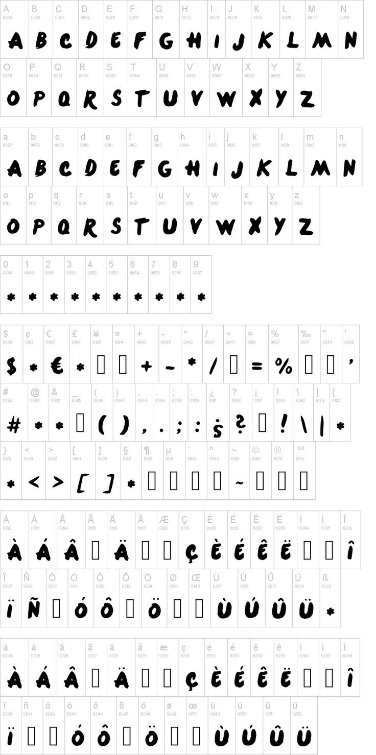 1D fonts