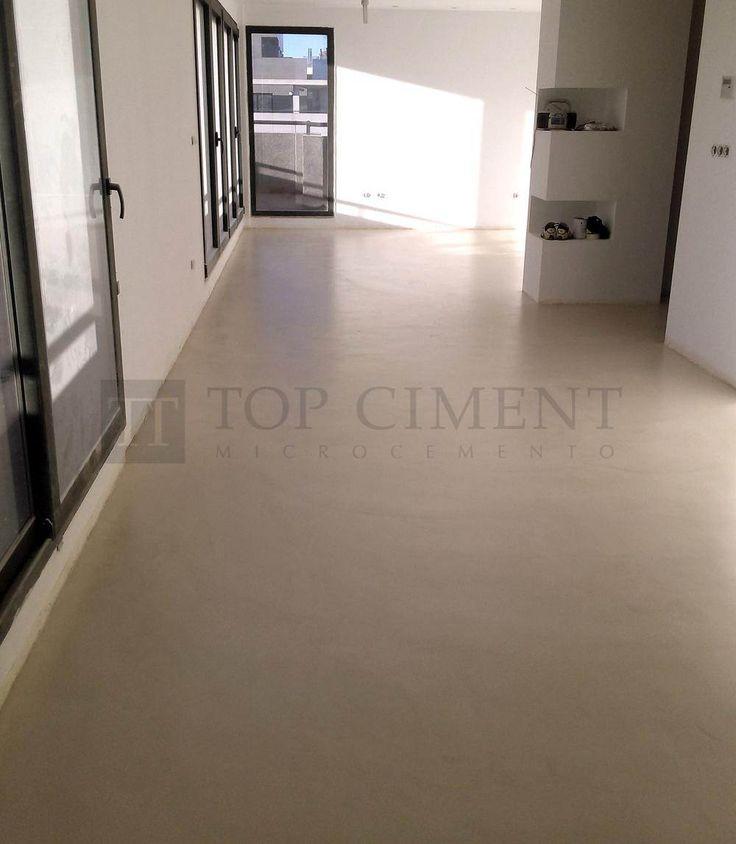Suelo continuo en vivienda con microcemento microdeck pavimentos de microcemento en interior y - Suelo de microcemento pulido ...