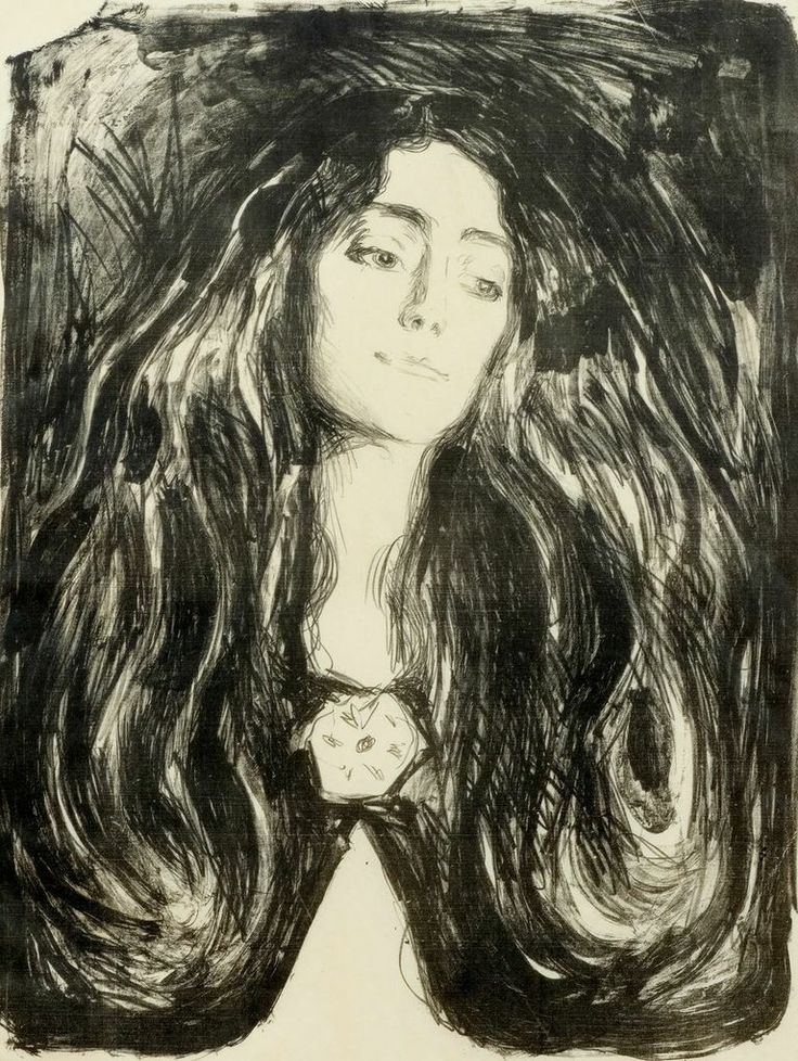 Edvard Munch (Norwegian, 1863-1944) The Brooch. Eva Mudocci, 1903