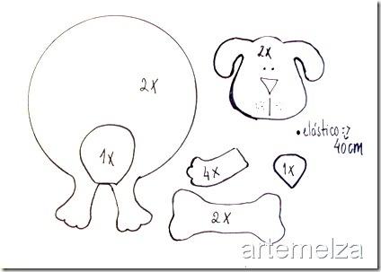 gratis patroon hond bladwijzer