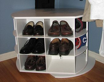 Keep your shoes in a hip cool place! A 4 level rack will hold 12 pairs of mens shoes, that means a bunch more ladies shoes! Additional levels can be added. Each level holds 3+ pairs This can be customized to fit your needs!!!! Just send us a custom order request.  Approximate Dimensions:  Shelf width - 28 (3 pairs per level) or 38 (4 pairs per level) Shelf depth - 12  Overall width approximately - 35 with legs or 45 with legs  The height varies depending on the number of levels. The heights…