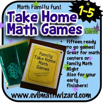 These fifteen low prep math games promote the connection between families and school. These games are genuinely fun for the whole family (I am not kidding)...
