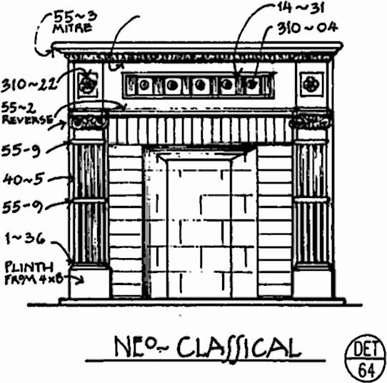 Neo-Classical Fireplace Surround - Det. 64