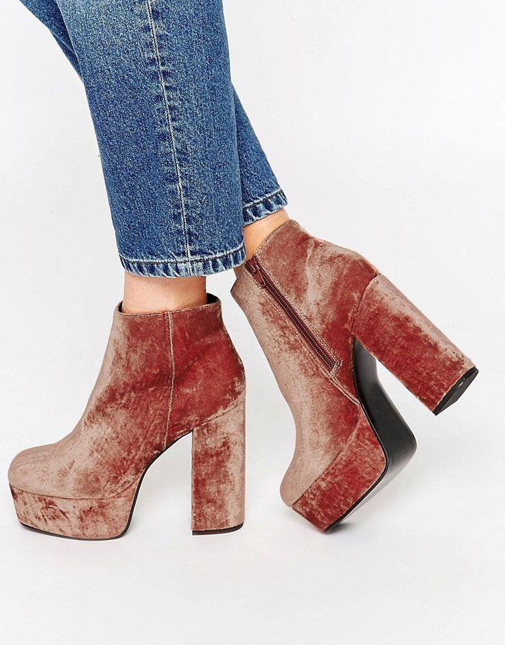 Image 1 ofASOS ELLEN Platform Ankle Boots