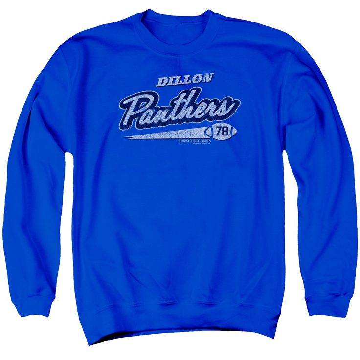 """Checkout our #LicensedGear products FREE SHIPPING + 10% OFF Coupon Code """"Official"""" Friday Night Lights / Panthers 78 - Adult Crewneck Sweatshirt - Royal Blue - Friday Night Lights / Panthers 78 - Adult Crewneck Sweatshirt - Royal Blue - Price: $39.99. Buy now at https://officiallylicensedgear.com/friday-night-lights-panthers-78-adult-crewneck-sweatshirt-royal-blue"""