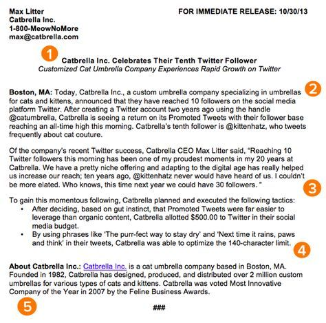 How to Write a Press Release Free Template from HubSpot - press release template