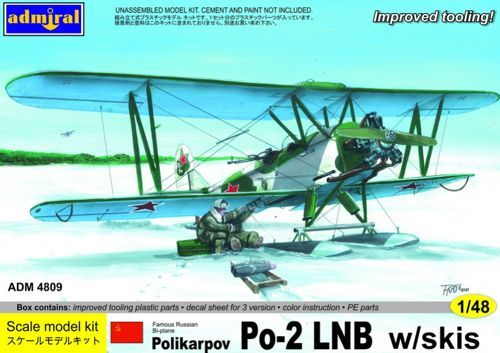 Polikarpov Po-2 LNB with skis. Admiral, 1/48, rebox 2013 (ex Admiral 2013 No.4808, updated / new parts), No.4809. Price: 19,79 GBP )marketplace).