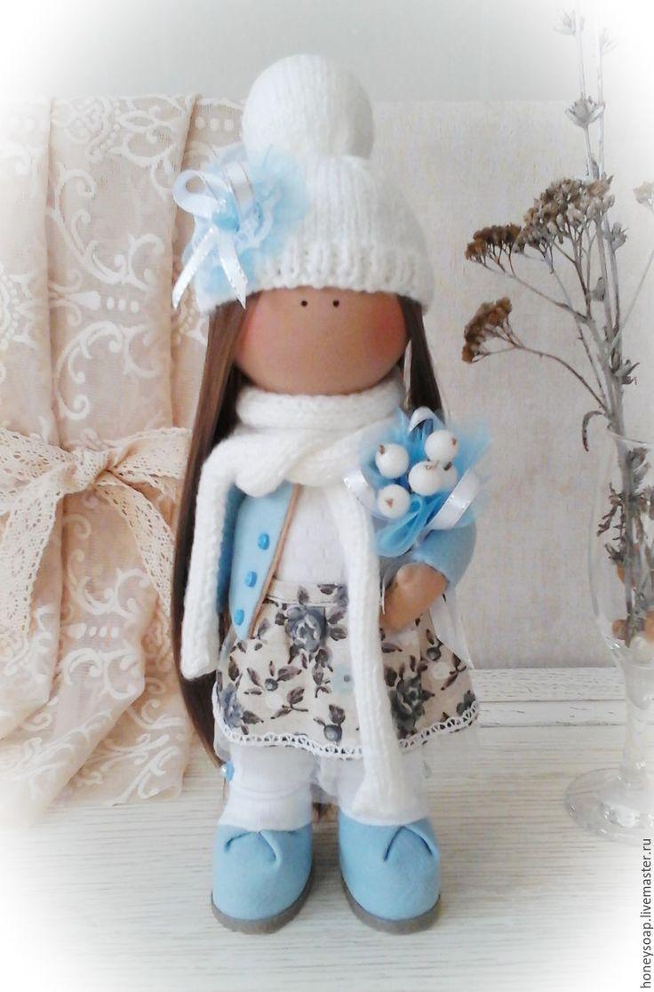 Купить Текстильная кукла Большеножка Неженка. - бирюзовый, текстильная кукла…