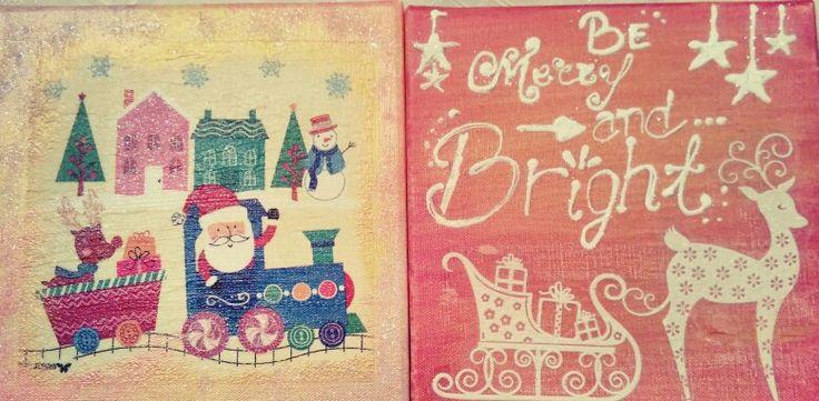 Diy canvas,christmas canvas, children creations