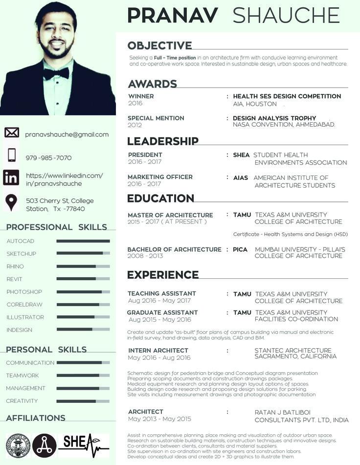 senior architect resume