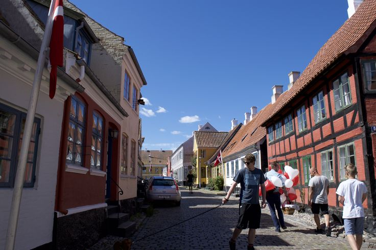 The cobbled streets of Aeroeskobing