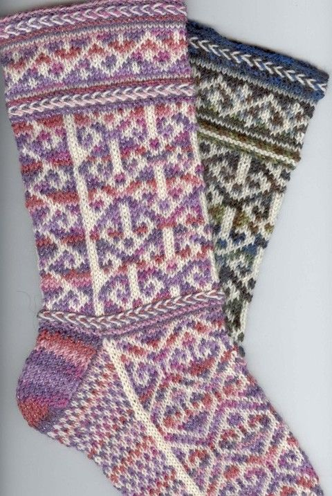 knitted cuff down - beautiful pattern at Patternfish