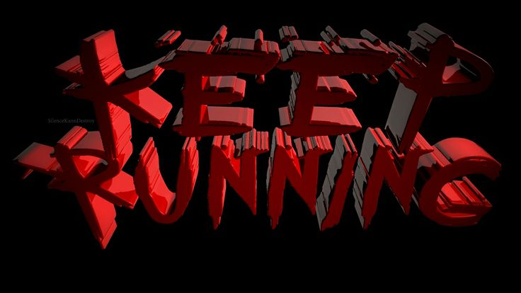 Keep Running  #MyChemicalRomance 3D typography #Maya SilenceKannDestroy