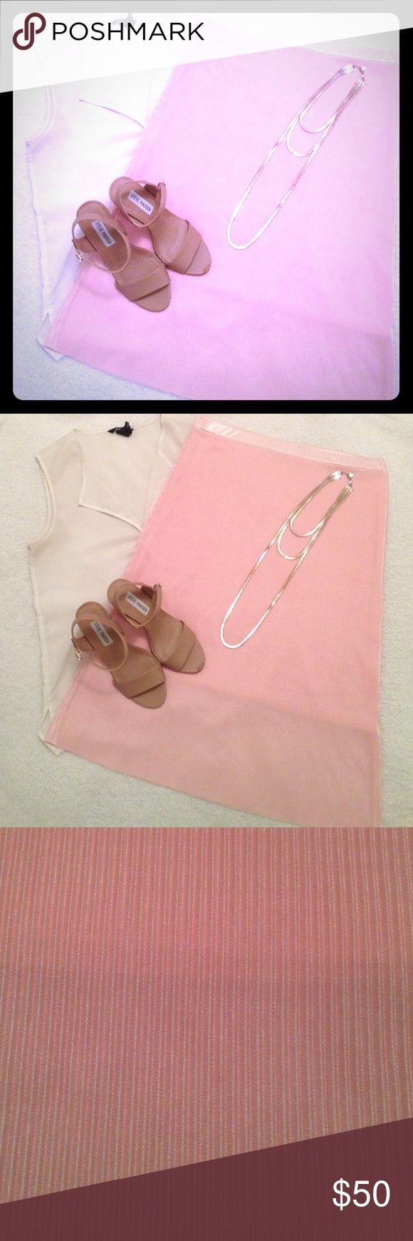 Liz Claiborne Skirt Light pink skirt, very cute, never worn. White top on sale as well Liz Claiborne Skirts Midi