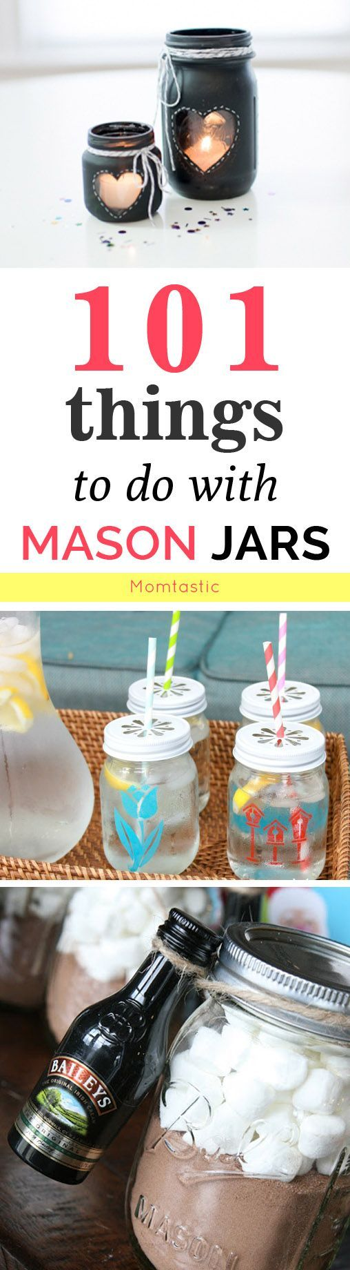 101 things to DIY with mason jars:
