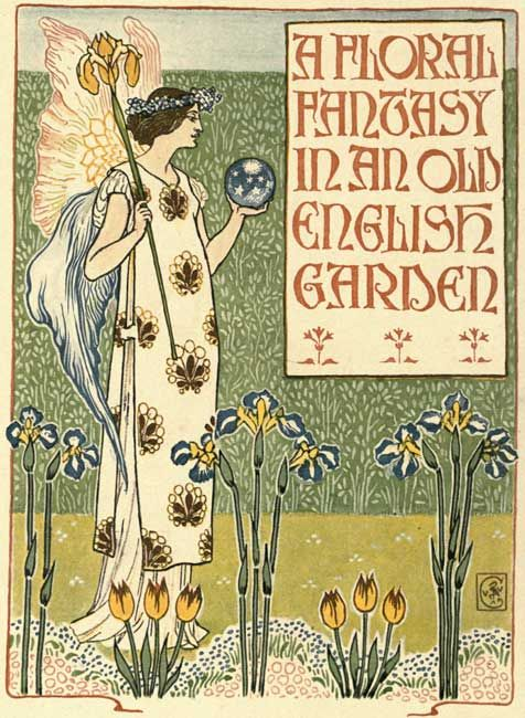 A Floral Fantasy in an Old English Garden. Walter Crane