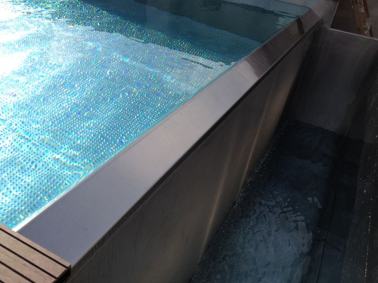 68 mejores im genes sobre piscinas de acero inoxidable en - Piscina acero inoxidable ...
