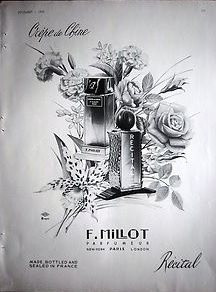 31 best tradition and heritage images on pinterest fragrance 1939 vintage f millot crepe de chine and recital perfume bottles ad sciox Choice Image