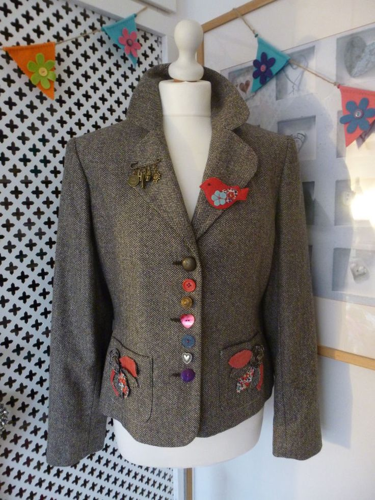 Customised Embellished Tweed Jacket