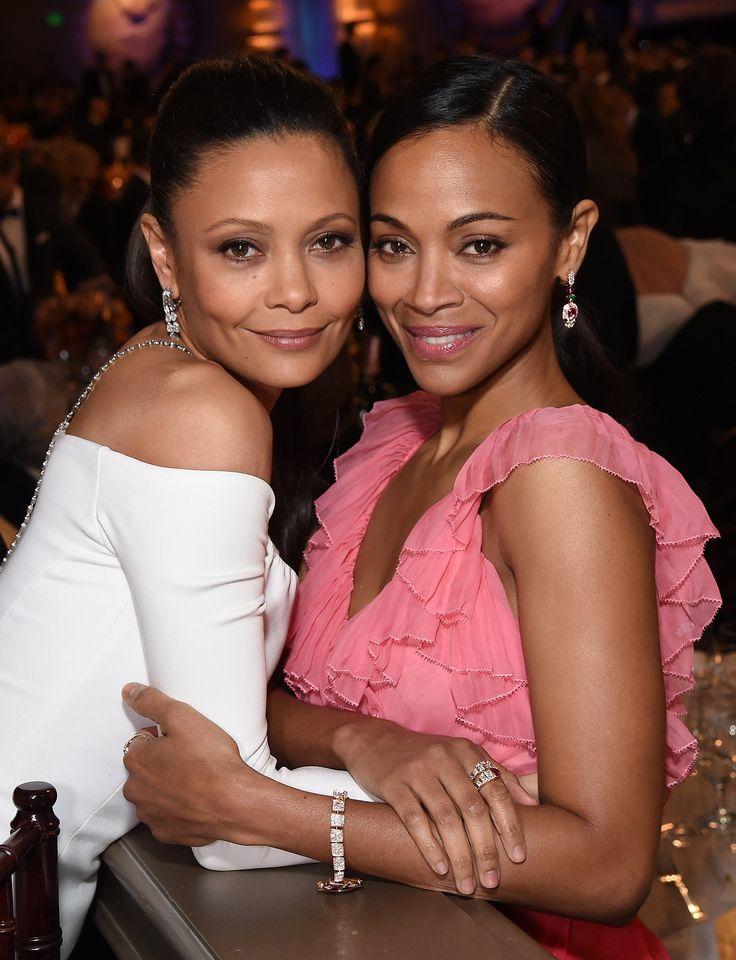 Thandie Newton in Monse and Zoe Saldana