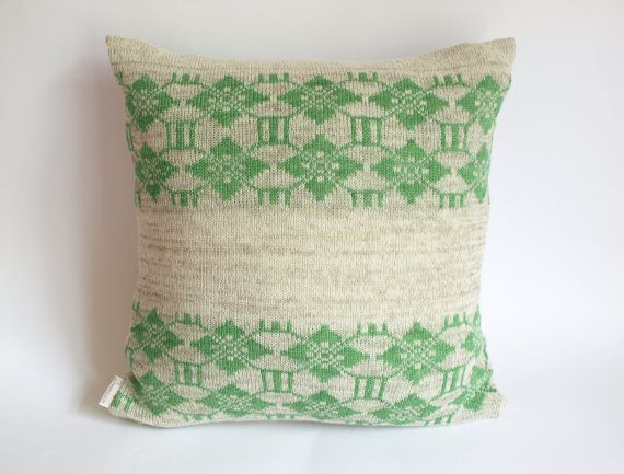 """Pillow cover linen cotton knitted pillow case for throw pillows grey green 18""""x18"""" Eco Friendly Floor Cushions Accent Pillows"""