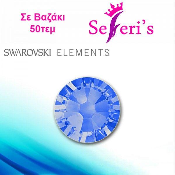 Sapphire - Swarovski Elements (50τεμ) No Hot Fix Crystals, ss3,ss5,ss6,ss8,ss10  Strass Swarovski για τα νύχια, διατηρούν τη λάμψη τους ακόμα και αφού περαστεί Top Coat σε μοναδικες τιμες