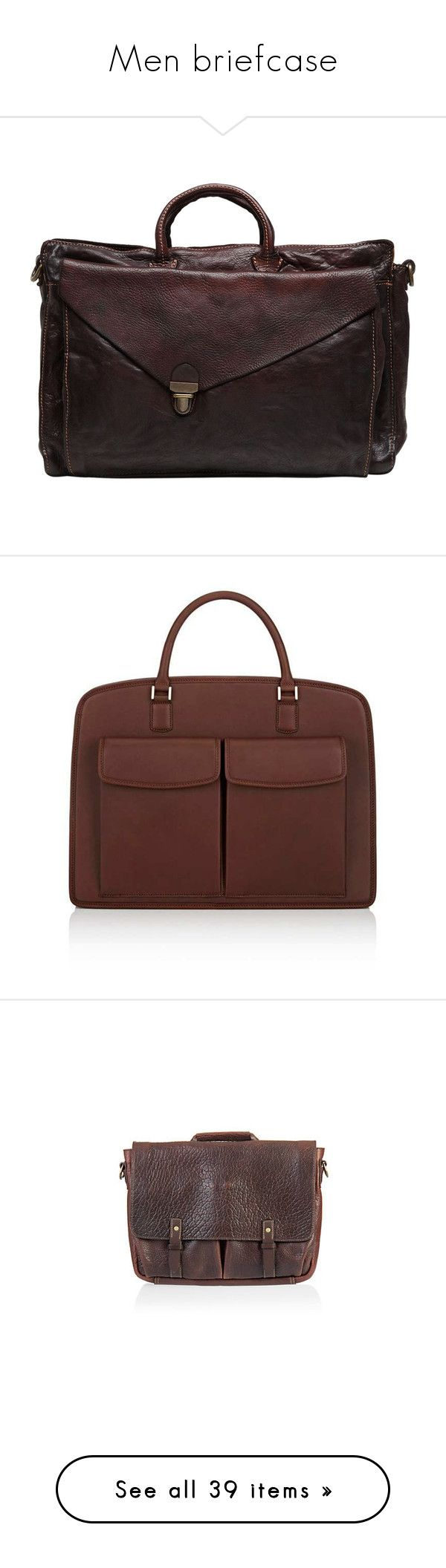 """Men briefcase"" by lorika-borika on Polyvore featuring men's fashion, men's bags, men's briefcases, brown, mens brown leather briefcase, mens briefcase, mens leather briefcase, bags, messenger bags и notebook bag"
