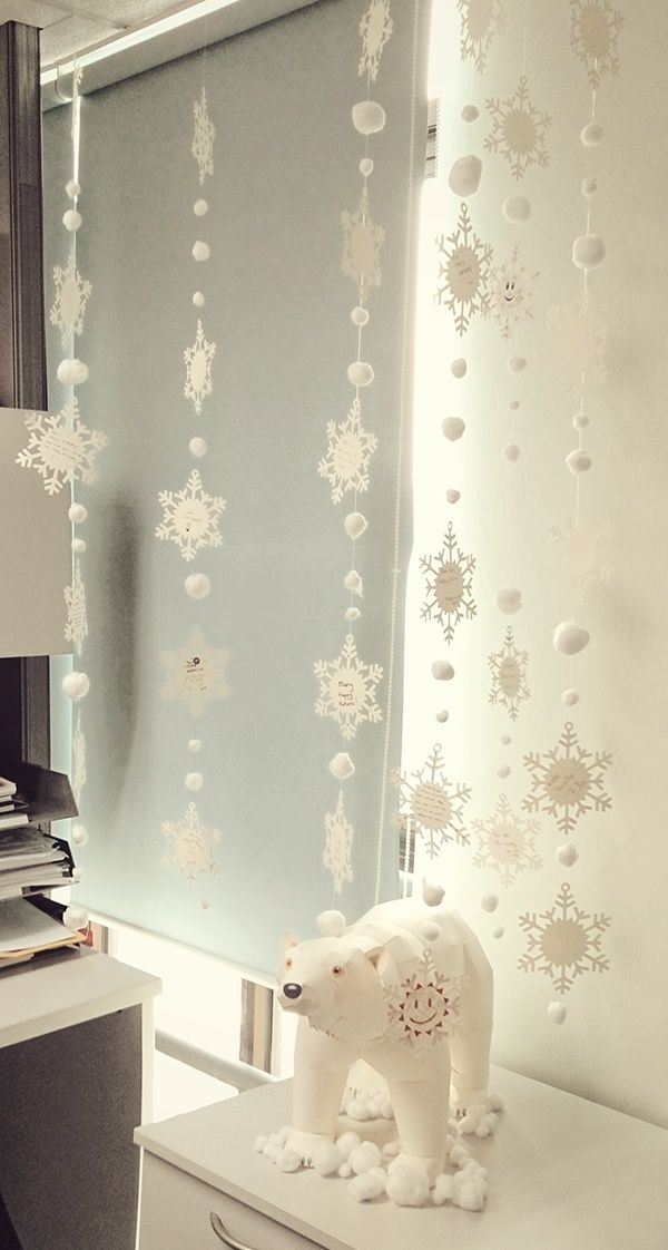 A birthday message collection. Each snowflake contains a personal birthday message from different people.  3d Bear Template by Katsuyuki Shiga (Pinoart)