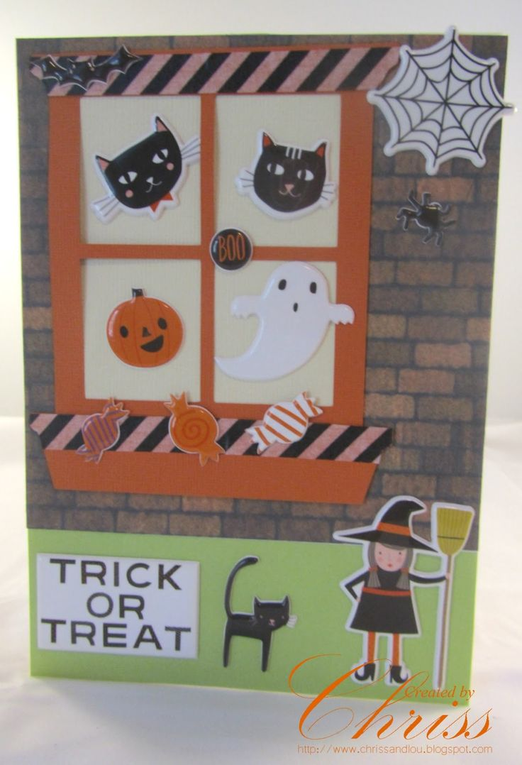 Window Halloween Card | October Inspiration - Scrapbooking Store