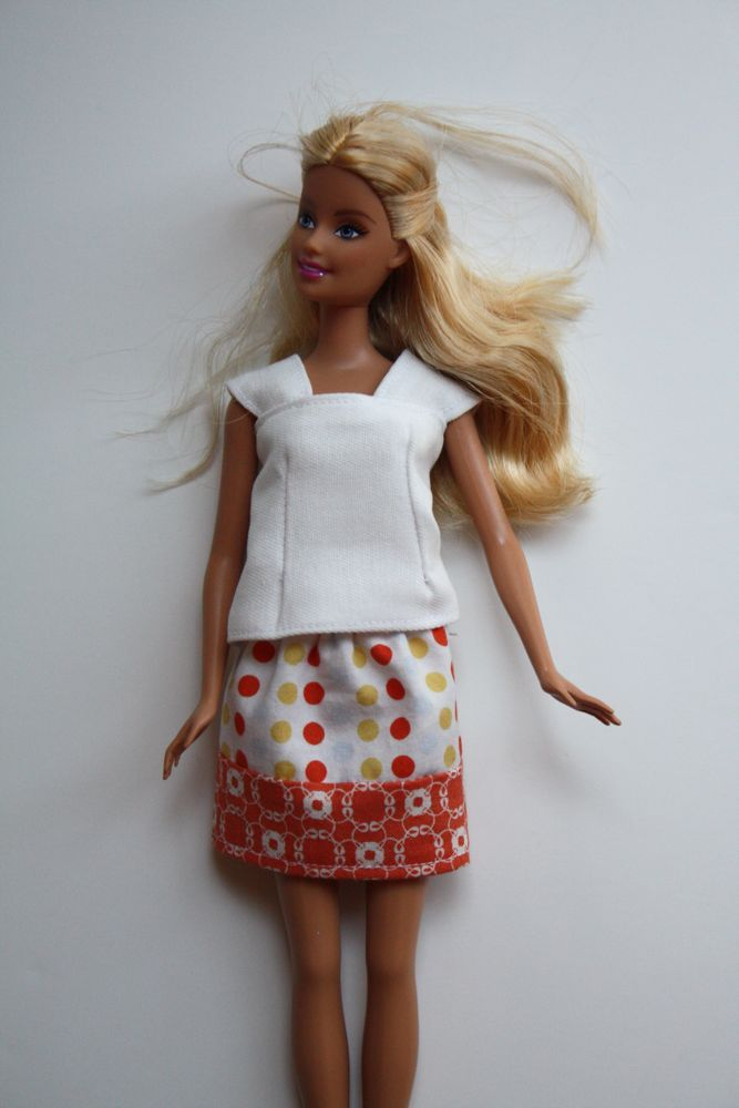 easy barbie skirt tutorial