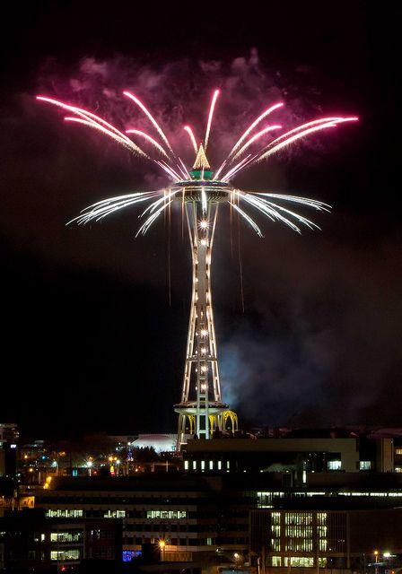 New Year Firework, Seattle, Washington