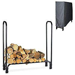 4 Foot Firewood Log Rack with Cover – Log Storage Rack – Wood Rack