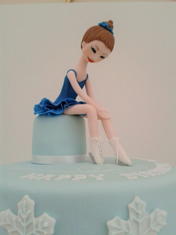 Ice Skating Birthday Cake  - Cake by Laras Theme Cakes