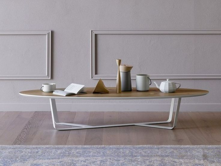 Buy online Bino | oval coffee table By miniforms, low powder coated steel coffee table