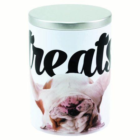 Paw Prints Tin Treat Jar Bulldog In 2019 Dog Food Storage Dog