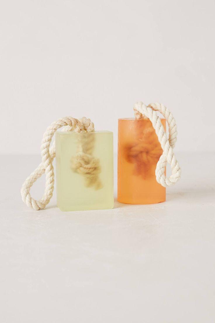 Roped Soap - ideia diferente para deixar o sabonete pendurado no banheiro
