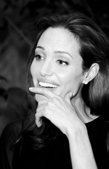"""Angelina Jolie promoting """"Beowulf"""" in Hollywood, California. October 29, 2007"""