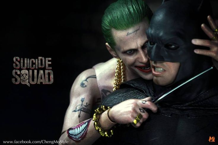 Jared Leto shares photo of his Joker vs. Ben Affleck's Batman in toy form - http://moviesandcomics.com/index.php/2017/04/26/jared-leto-shares-photo-of-his-joker-vs-ben-afflecks-batman-in-toy-form/
