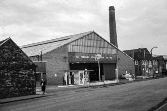 Potteries Motor Traction (PMT) garage, Burslem depot.