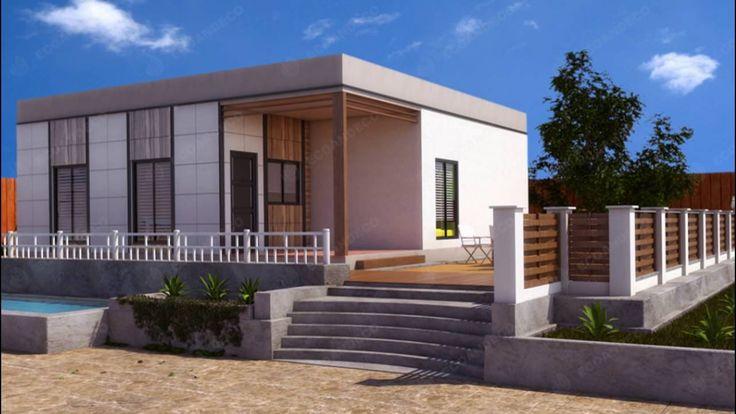 Casas de madera, modernas, modulares  y cúbicas,  Ecoandeco